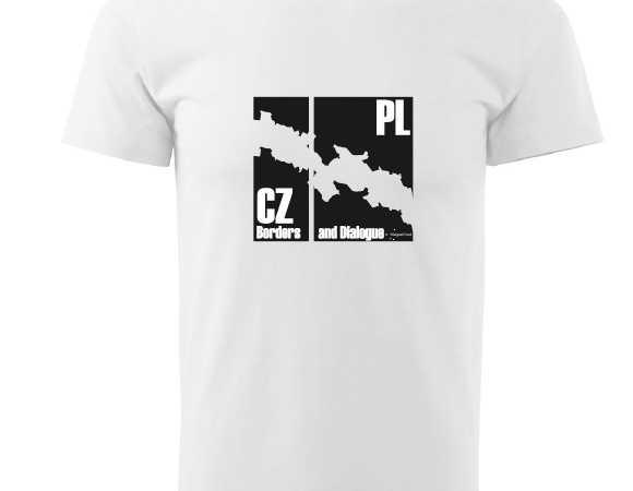 Design na trička a na dřevěnou desku pro projekt Borders & Dialogue